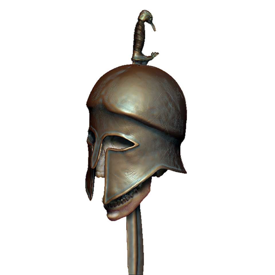 A Greek helmet