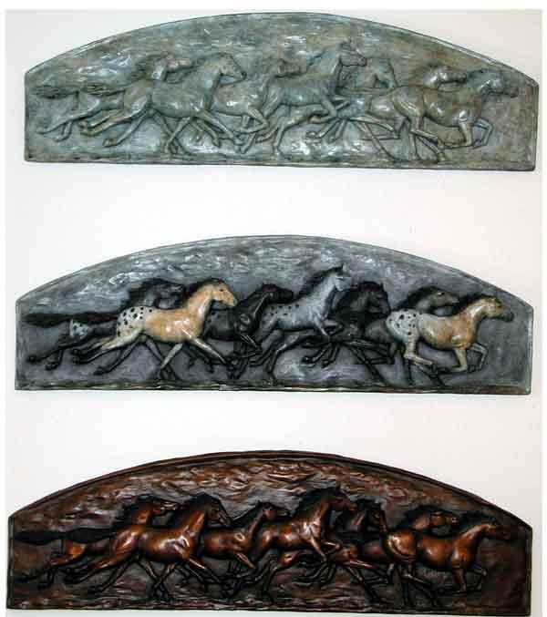 3 versions of 7 Running Horses