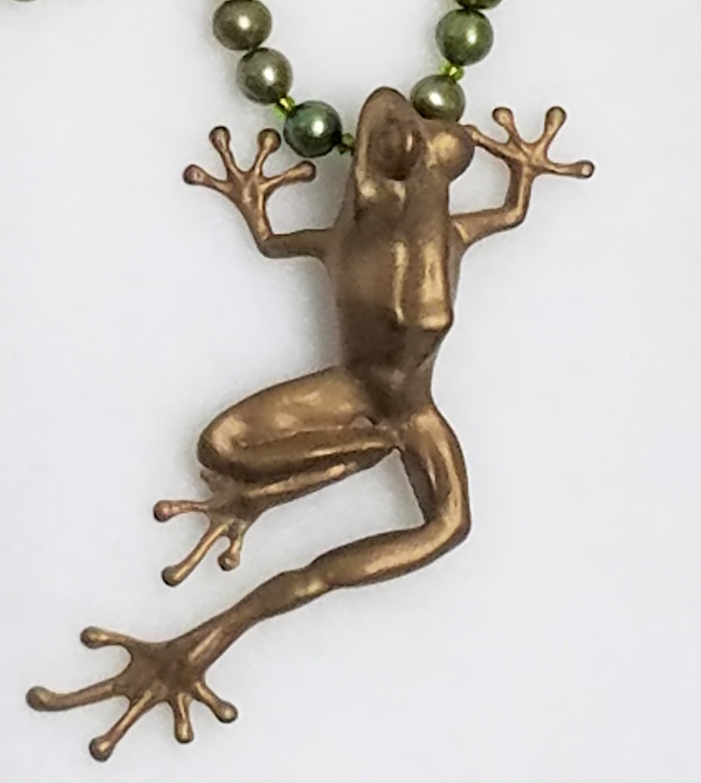 Tree frog Bronze pendant by Eric Thorsen